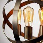 1.6m Lampadaire sur pied Longue Câble avec Interrupteur en ligne Lampe de lecture Lampe sur pied de salon pour Salon Chambre Étude Bureau Café Boutique Classique Antique Laiton Rond Industrie Lampadaire de Sol (Lampadaire) de la marque LUCK LIGHT image 2 produit
