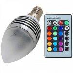 1 pcs E14 5 W 3 Intégré LED 400 LM RGB Dimmable / Remote-Controlled / Decorative Candle Bulbs AC 85-265 V de la marque LED Light Bulbs image 2 produit