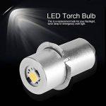 1 W P13.5S Base Mise À Jour LED Ampoule Lampe de Poche de Remplacement Lampes Torches Torche LED Kit de Conversion Ampoule pour Lampe Torche Lampe Travail d'urgence(6V) de la marque Aramox image 1 produit