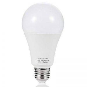 1 X LOHAS 23W E27 Blanc Froid 6000K, Ampoule LED, 200W Ampoule Halogène Équivalent, 220-240V AC, 2500lm, 240°Larges Faisceaux, Ampoule E27 de la marque Lohas-Led image 0 produit