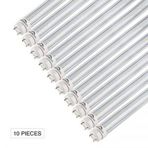 10×Auralum Tubes LED T8 G13 20W Tubes Fluorescents 120CM LED 2835*120LED Tubes Néon de Couverture Transparente avec Starters Blanc Froid 6000-6500K Éclairage Intérieur Économique d'énergie Longue Durée de Vie de la marque AuraLum image 0 produit