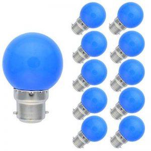 10 Pack B22 Lampe Couleur 1W Ampoule Bleu 70-100LM Guirlande Ampoule PC Matériel AC220V-240V de la marque Tatalantai image 0 produit
