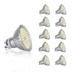 10 PCS 220V 5W GU10 led Ampoule 430 lm Blanc Froid MR16 LED Éclairage encastré 6000K Spot de la marque ocjemoSJ image 0 produit