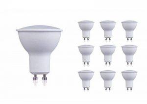 10 x 230 V intensité variable 3.5 W Ampoule LED GU10 Blanc chaud 3000 Kelvin 270lumens 82ra, Pf0.95 35 W ampoules halogènes équivalent, technologie sans pilote, 120 ° Angle de faisceau de la marque HC LIGHT image 0 produit