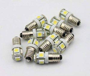 10x Ampoule E106V V AC DC Blanc 6000K Vélo 5LED SMD culot à vis lampel de la marque Unbekannt image 0 produit