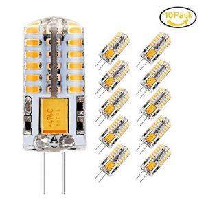 10 x Ampoule LED G4, Jpodream 3.5W 48*3014 SMD LED Lampe, Blanc Chaud 3000K, 35W Ampoule Halogène équivalen, 300 LM, 360° Faisceaux, AC / DC 12V de la marque Jpodream image 0 produit