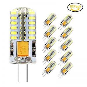 10 x Ampoule LED G4, Jpodream 3.5W 48*3014 SMD LED Lampe, Blanc Froid 6000K, 35W Ampoule Halogène équivalen, 300 LM, 360° Faisceaux, AC / DC 12V de la marque Jpodream image 0 produit