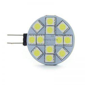 10x ampoules LED G4 / Spots 12V, 2Watt, Blanc chaud, équivalent halogène 25Watt - Remplacements de Capsule Halogène en forme de disque, (Fantastique pour cuisines, camping-cars, caravanes, etc.) de la marque Discount LEDs image 0 produit