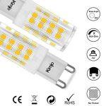 10 x G9 Ampoules LED Kimjo, 5W Lampe 2800K Blanc Chaud 500lm Équivalent Ampoule Incandescente de 50W, 51 x 2835 SMD CRI est de 82 360° Angle de Faisceau AC220-240V Non Réglable Lot de 10 de la marque Kimjo image 4 produit