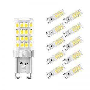 10 x G9 Ampoules LED Kimjo, 5W Lampe 6000K Blanc Froid 500lm Équivalent Ampoule Incandescente de 50W, 51 x 2835 SMD CRI est de 82 360° Angle de Faisceau AC220-240V Non Réglable Lot de 10 de la marque Kimjo image 0 produit