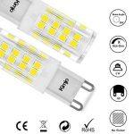10 x G9 Ampoules LED Kimjo, 5W Lampe 6000K Blanc Froid 500lm Équivalent Ampoule Incandescente de 50W, 51 x 2835 SMD CRI est de 82 360° Angle de Faisceau AC220-240V Non Réglable Lot de 10 de la marque Kimjo image 4 produit