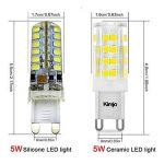 10 x G9 Ampoules LED Kimjo, 5W Lampe 6000K Blanc Froid 500lm Équivalent Ampoule Incandescente de 50W, 51 x 2835 SMD CRI est de 82 360° Angle de Faisceau AC220-240V Non Réglable Lot de 10 de la marque Kimjo image 3 produit