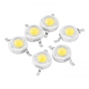 100pcs LED haute puissance Puce, 1W Super Bright l'intensité de l'émetteur de lumière SMD composants diode ampoule lampe Perles Chip DIY Luminaire pour projecteur spot de la marque Zerodis image 0 produit