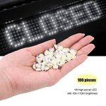 100pcs LED haute puissance Puce, 1W Super Bright l'intensité de l'émetteur de lumière SMD composants diode ampoule lampe Perles Chip DIY Luminaire pour projecteur spot de la marque Zerodis image 4 produit
