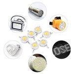 100pcs LED haute puissance Puce, 1W Super Bright l'intensité de l'émetteur de lumière SMD composants diode ampoule lampe Perles Chip DIY Luminaire pour projecteur spot de la marque Zerodis image 3 produit