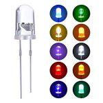 100 Pièces Diodes Électroluminescentes Diode Led 10 Couleurs 5 mm de la marque eBoot image 1 produit