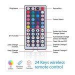 10m LED Ruban 5050 RGB 300 leds IP65 Étanche, ESEYE Kit Bande LED RGB+W 2.4W/m Flexible Multicolore Peut-Découpé Clignotant au Néon Decor Rubans Avec Télécommande/IR Récepteur/Alimentation 12V 5A de la marque ESEYE image 2 produit