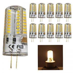 10pc 5W G4Ampoules LED perles, Remplacement pour ampoules halogènes 50W, 320lm, Blanc Chaud 3000K, 64SMD 3014LED Angle d'éclairage 360°, luminaires décoratifs LED, LED Ampoules, Lampe LED perles, AC 220V/AC12V,, G4, 3.00 wattsW, 12.00 voltsV de l image 0 produit