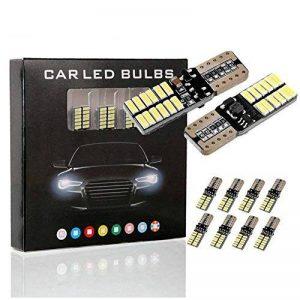 10PCS T10 LED Ampoules de Voiture Lampe 4014 SMD 24 LED, MODOCA 4014 Veilleuse Canbus Sans Erreur 12V, Blanc de la marque Modoca image 0 produit