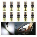 10PCS T10 LED Ampoules de Voiture Lampe 4014 SMD 24 LED, MODOCA 4014 Veilleuse Canbus Sans Erreur 12V, Blanc de la marque Modoca image 1 produit
