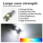 10PCS T10 LED Ampoules de Voiture Lampe W5W 5 SMD, MODOCA 5050 Wedge Intérieur de Voiture Bulbs pour Arrière Lumières Frein Turn Lampes Plaques D'immatriculation Lumières 12V, Blanc de la marque Modoca image 4 produit