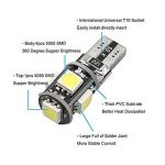 10PCS T10 LED Ampoules de Voiture Lampe W5W 5 SMD, MODOCA 5050 Wedge Intérieur de Voiture Bulbs pour Arrière Lumières Frein Turn Lampes Plaques D'immatriculation Lumières 12V, Blanc de la marque Modoca image 2 produit