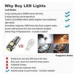 10PCS T10 LED Ampoules de Voiture Lampe W5W 5 SMD, MODOCA 5050 Wedge Intérieur de Voiture Bulbs pour Arrière Lumières Frein Turn Lampes Plaques D'immatriculation Lumières 12V, Blanc de la marque Modoca image 3 produit
