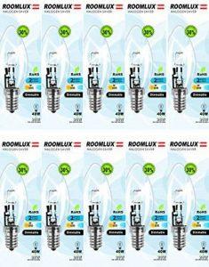 10pcs x Room Lux Eco Halogène Light Bulb E1428W Candle Clear Bulb Dimmable de la marque ROOMLUX image 0 produit