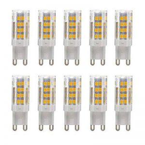10X Ampoule LED G9,5W 51 x 2835 SMD LED Lampes Blanc Chaud 3000K,350LM,30W Halogène Lumière Equivalente, 360 Degrés Angle, AC 200-240V de la marque yohooo image 0 produit