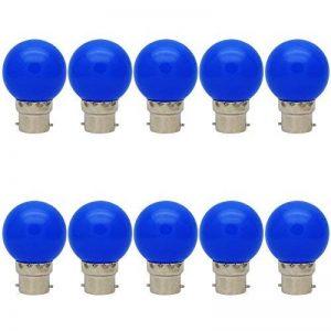 10X B22 Ampoule de Couleur 1W Ampoule Bleu Couleur à LED 70-100LM Haute Iuminosité Adapté aux Décoration AC 220V-240V de la marque ITALASA image 0 produit