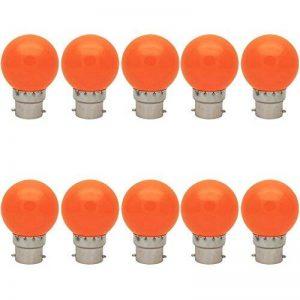 10X B22 Ampoule de Orange 1W Ampoule Couleur Haute Luminosité Lampes Couleur 70-100LM Adapté aux Décoration AC 220V-240V de la marque ITALASA image 0 produit