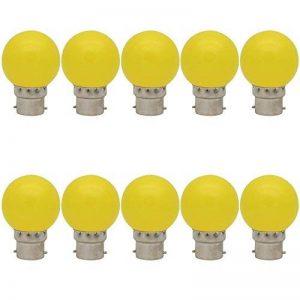 10X B22 Ampoule Jaune 1W Ampoule de Couleur Lampes 70-100LM Couleur à LED Adapté aux Décoration AC 220-240V de la marque ITALASA image 0 produit