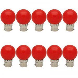 10X B22 Ampoule Rouge 1W Ampoule Couleur Économie d'énergie Couleur à LED 70-100LM Adapté aux Décoration AC 220V-240V de la marque ITALASA image 0 produit
