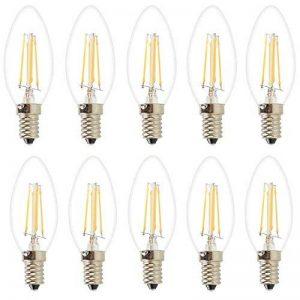 10X E14 Ampoule de Filament LED C35 Ampoule Edison Vintage 4W Dimmable Lampe à Filament Blanc Chaud Tres Lumineux 400LM COB LED Edison Retro AC 220V de la marque ITALASA image 0 produit