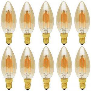 10X E14 Ampoule Edison Vintage Dimmable 4W Filament LED C35 Ampoule Vintage Filament Blanc Chaud 400LM Edison Retro AC 220V de la marque ITALASA image 0 produit