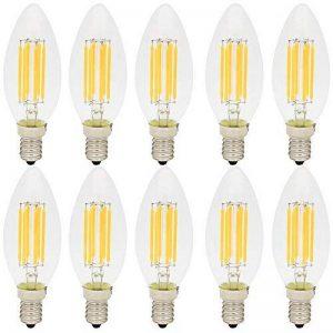 10X E14 Ampoule Filament LED 6W LED Edison Retro C35 Ampoule Vintage Blanc Chaud 2700K Tres Lumineux 500LM Edison Lampe AC 220V de la marque ITALASA image 0 produit