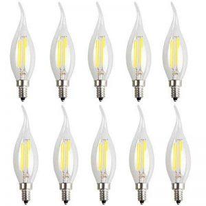 10X E14 Filament LED 4W Lampe à Filament Ampoule Edison Vintage C35 LED Edison Blanc Froid 6000K Haute Illumination 400LM Flame Tip Candle Lampe LED AC220-240V de la marque ITALASA image 0 produit