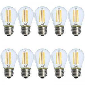 10X E27 Ampoule Edison Vintage Dimmable 4W Ampoule Filament LED G45 Ampoule Retro Blanc Chaud 2700K Tres Lumineux 400LM Edison LED AC 220V de la marque ITALASA image 0 produit
