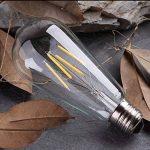 10X E27 Ampoule Edison Vintage Dimmable ST64 Lampe à Filament LED 4W Retro Edison LED 400LM Super Brillant Ampoule Filament Équivalent Incandescence 40W Blanc Chuad AC220V de la marque ITALASA image 2 produit