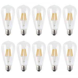 10X E27 Ampoule Edison Vintage Dimmable ST64 Lampe à Filament LED 4W Retro Edison LED 400LM Super Brillant Ampoule Filament Équivalent Incandescence 40W Blanc Chuad AC220V de la marque ITALASA image 0 produit