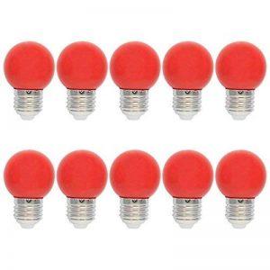 10X E27 Ampoules de Couleur 1W Rouge LED Bulb PC Ampoule Décoration 100LM Super Brillant Couleur à LED AC220V-240V de la marque ELEXI image 0 produit