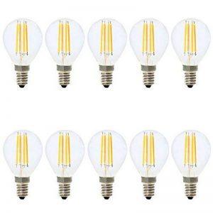 10x Edison E14 Ampoule de Filament LED Blanc Chaud Dimmable,Equivalence Incandescence 30W, Verre Gelé,AC 220V de la marque Falale image 0 produit