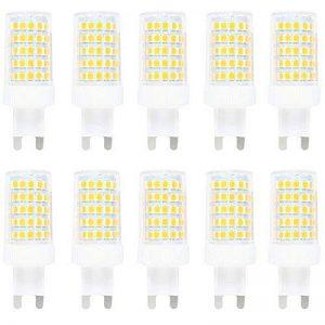 10X G9 LED Bulb 10W Dimmable Ampoule LED 86 SMD 2835LEDs Lamps Blanc Chaud 3000K Super Brillant 800LM Spotlight AC220-240V de la marque ITALASA image 0 produit