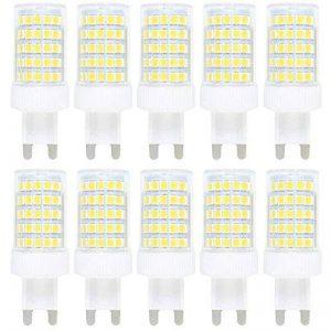 10X G9 LED Bulb 10W Dimmable Ampoule LED 86 SMD 2835LEDs Lamps Blanc Froid 6000K Super Brillant 800LM Spotlight AC220-240V de la marque ITALASA image 0 produit