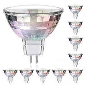 10x GU5.3 spot LED de parlat (lampe MR16, lumière blanche-chaude, 2 Watt, 120 Lumen, 12 Volt AC) de la marque Parlat image 0 produit