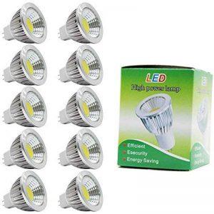 10X MR16 GU5.3 Ampoule Lampe 3W Ampoule Lampe COB Blanc Froid LED Bulb 210LM Économie d'énergie Lumiere LED 120° Angle de Faisceau DC12V de la marque ITALASA image 0 produit