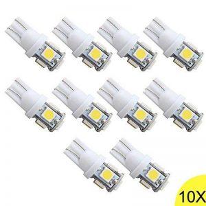 10x T10 W5W 168 194 5 LED 5050 SMD Canbus SANS ERREUR Anti ODB Blanc Lampe Veilleuse Lumiere Voiture 1W LED Lampes de la marque QUESTWAY image 0 produit