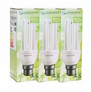 11W (= 60W) économie d'énergie CFL ampoule 6500K couleur blanc jour à culot baïonnette B22BC, Stick, 10ans, 10000heures Fluo Compact avec Tailles par Lowenergie (10), b22 11.0 wattsW de la marque Lowenergie image 0 produit