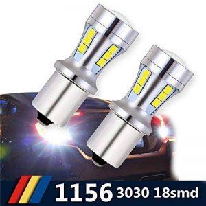 1156 BA15S LED Auto Ampoule 921 912 T10 T15 18-SMD Feu Recul/Feu Frein/Feu Direction Voiture Lampe Blanc DRL 6000K 12-24V (2 PCS) de la marque Suparee image 0 produit