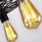 12x Ampoule vintage rétro Old Fashioned Style Edison à vis E27ST6419ancres 60W 220V–Cage d'écureuil Filament de tungstène Verre antique lampe [Classe énergétique D] de la marque INT image 4 produit